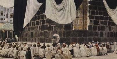 Jamaah Haji Tahun 1953 didepan Ka'bah