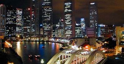 Malam Hari di Singapura