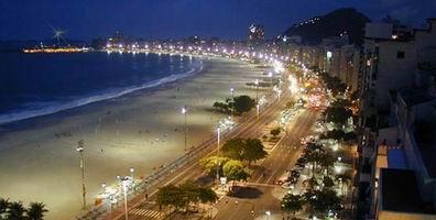 Salah satu Pantai Brazil di malam hari