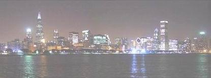 Chicago di malam hari.