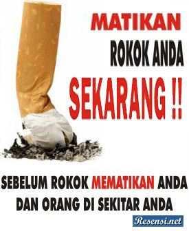 matikan rokok anda